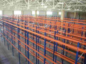 полочные стеллажные конструкции для склада